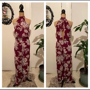 Brand New Lulu's Floral Jumpsuit Size Small